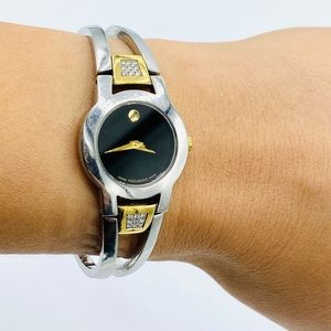 Movado Amorosa Stainless Bracelet Ladies Watch